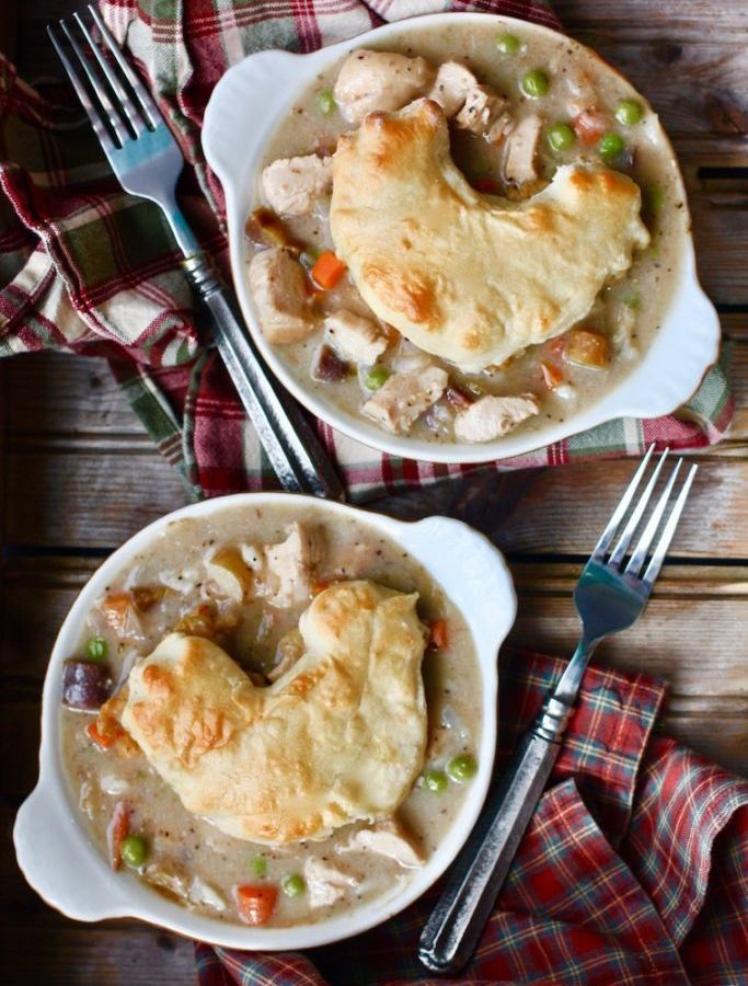 Individual Chicken Pot Pies Recipe
