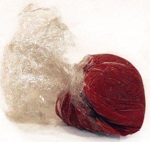 Frozen tomato paste balls