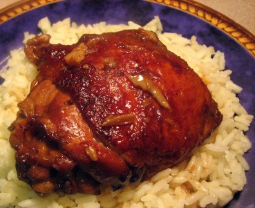 Instant Pot Chicken Adobo on Rice