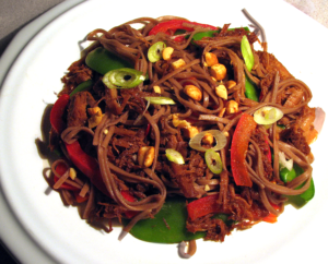 Slow Cooker Asian Pork with Snow Peas and Red Peppers