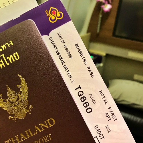tg-thai-airways-first-class-review-747-tokyo-japan-blogger-sponsor-seat-boarding-passport
