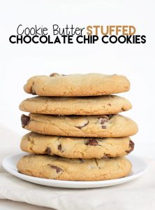 Cookie Butter Stuffed Chocolate Cookies
