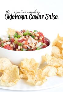 10 Minute Oklahoma Caviar Salsa