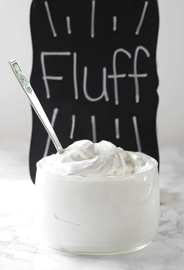 dish of Homemade Marshmallow Fluff