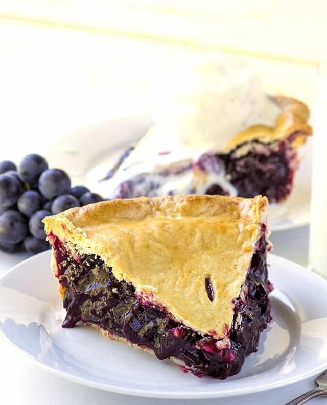 slice of Concord Grape Pie