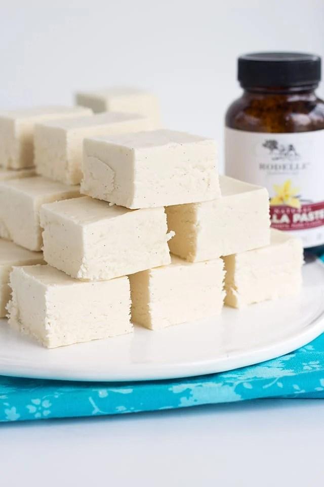 vanilla fudge made with Rodelle vanilla extract