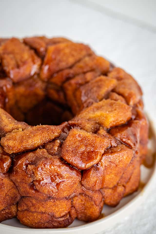 monkey bread close up view