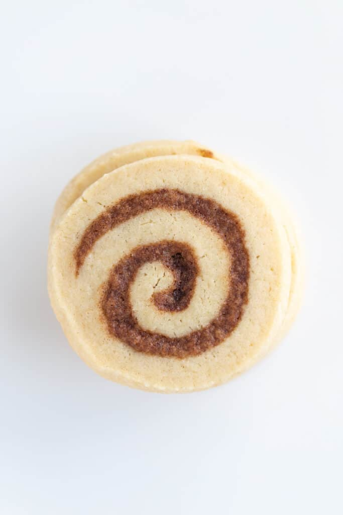 up close overhead photo of a cookie