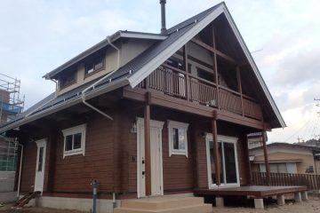 長野県飯田市のマシンカットログハウス01