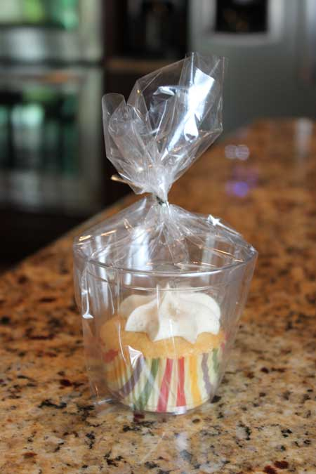 individually wrapped cupcake