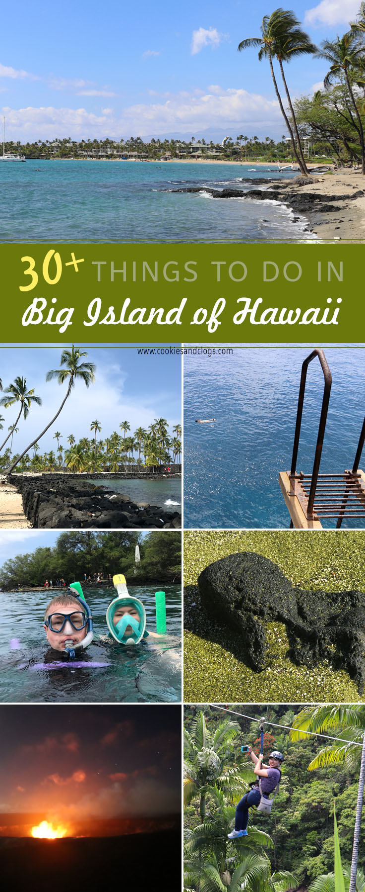 Cookies & Clogs | 30+ Family friendly things to do on the Big Island of Hawaii with kids. Hawaii family travel ideas and activities.
