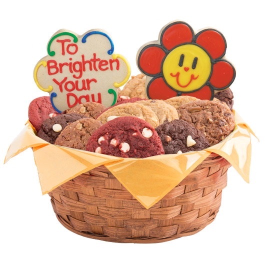 Smiling Face Daisies Basket