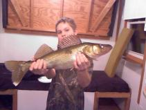 Corey with a walleye