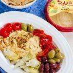 Vegetarian Antipasto Hummus Platter Easy Appetizer Or Light Meal