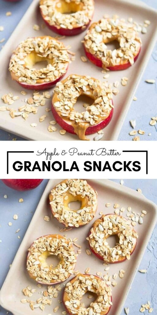 This 3-ingredient snack is popular with both kids and adults! Apple and Peanut Butter Granola Snacks help to curb those afternoon munchies. 126 calories and 3 Weight Watchers SP   Healthy   Snack   Breakfast   Vegan   Plant Based   Vegetarian   Gluten Free   Clean Eating   Apple with Peanut Butter