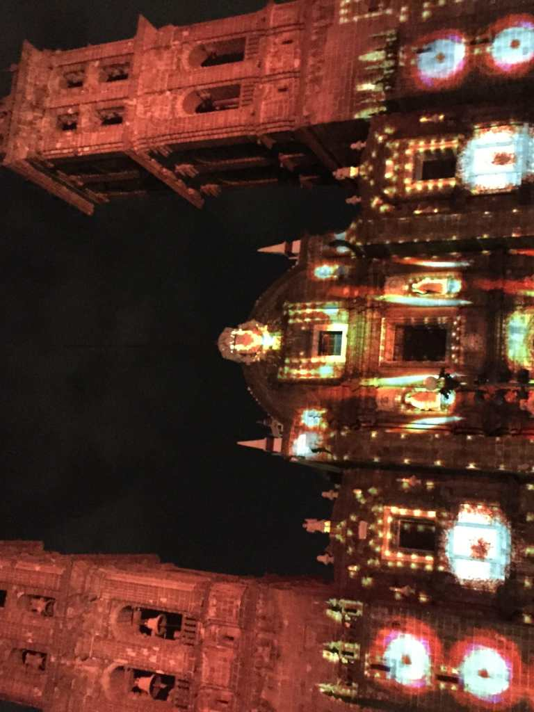 show luminico iglesia puebla