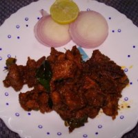 Andhra Mutton Pepper Fry!