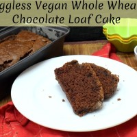 Eggless Vegan Whole Wheat Chocolate Loaf Cake