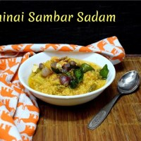 Thinai Sambar Sadam | How to make Foxtail Millet Sambar Sadam