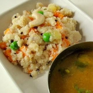 Vegetable Rava Upma Recipe, Easy Veg Rava Upma