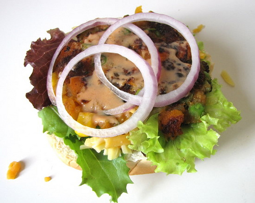 vegetable burger, how to make vegetable burger at home