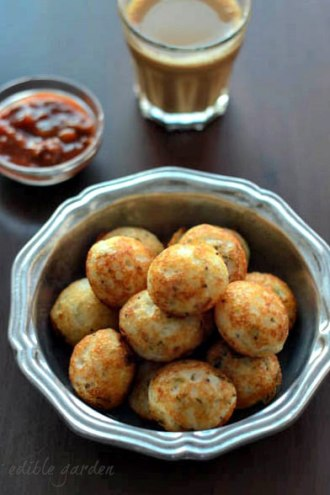 quick and easy indian snack recipes - masala paniyaram recipe