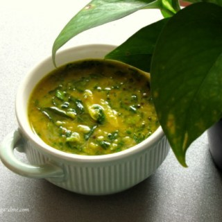 Methi Yellow Dal / Fenugreek Leaves in Yellow Dal Recipe