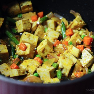 Tofu Egg and Vegetable Fried Rice Recipe, Step by Step
