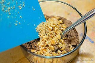eggless no bake biscuit brownie recipe