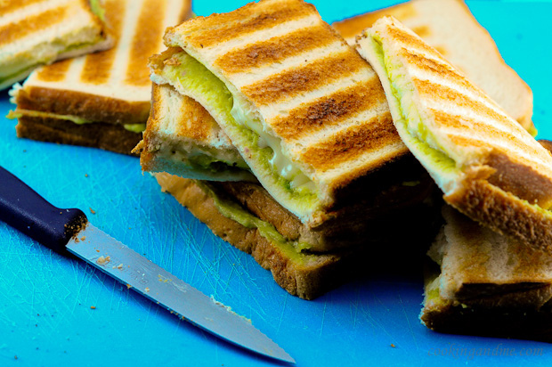 Grilled Guacamole Cheese Sandwiches