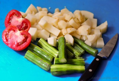 potato drumsticks khus khus curry recipe