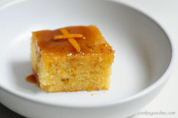 Orange Cake Recipe with Toffee Sauce