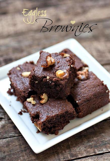 Eggless Brownie Recipe, Eggless Chocolate Brownies ...