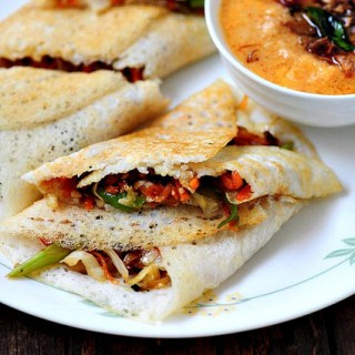 Vegetable Spring Roll Dosa Recipe – Easy Dosa Recipes