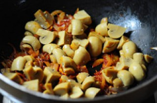 dingri dolma-mushroom paneer curry