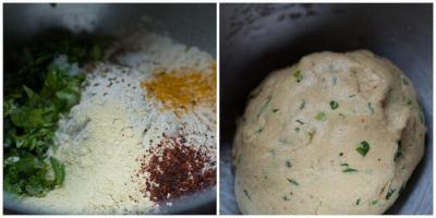 methi thepla recipe step 1