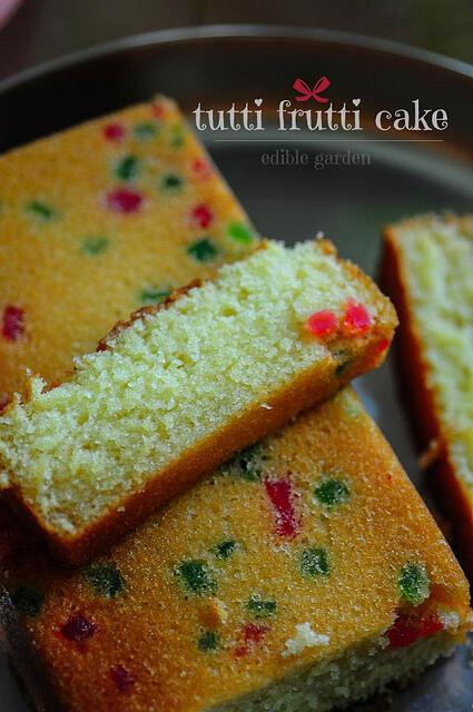 tutti frutti christmas cake recipe