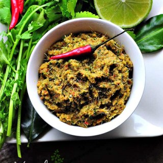 Vegetarian Green Curry Paste Recipe – Thai Veg Green Chilli Paste