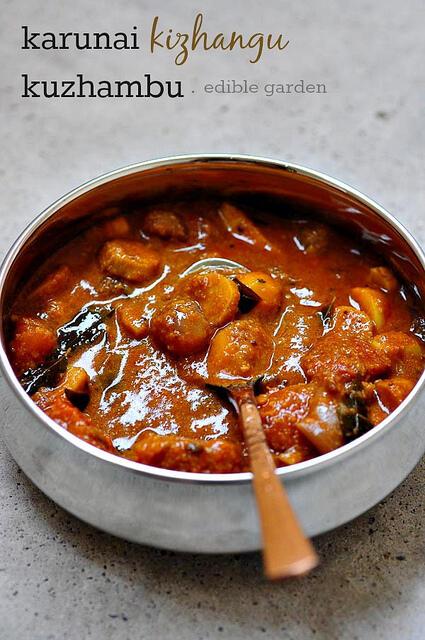 karunai kizhangu kuzhambu-karunai kilangu kulambu recipe