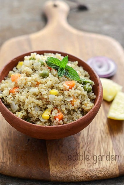 quinoa vegetable pulao-indian quinoa recipes