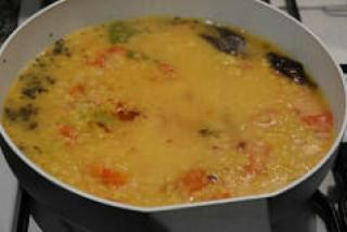 capsicum tomato dal recipe-dal with tomatoes and capsicum-3