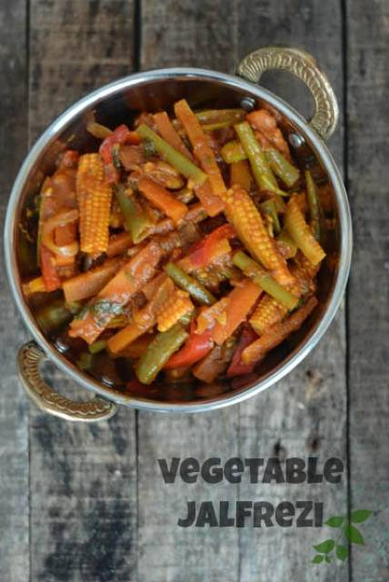 vegetable jalfrezi recipe, vegetable jalfrezi