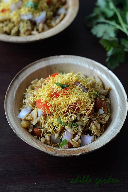 bhel puri recipe, how to make bhel poori