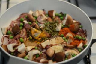 mushroom peas masala dry recipe-3