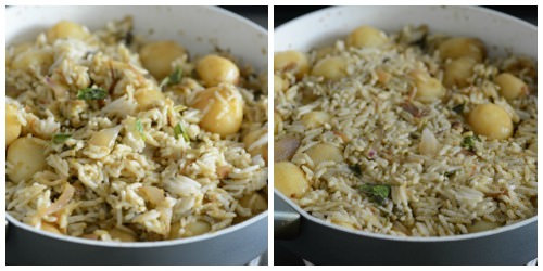 baby potato biryani recipe step by step