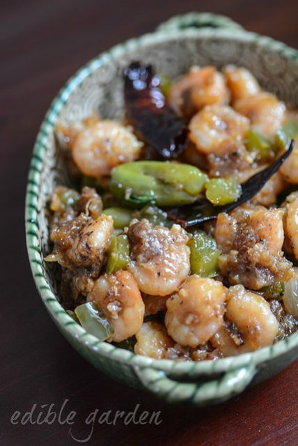 chilli prawns recipe, step by step