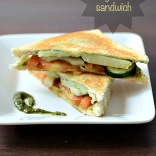 Grilled Vegetable Sandwich Recipe, Easy Indian Evening Snacks