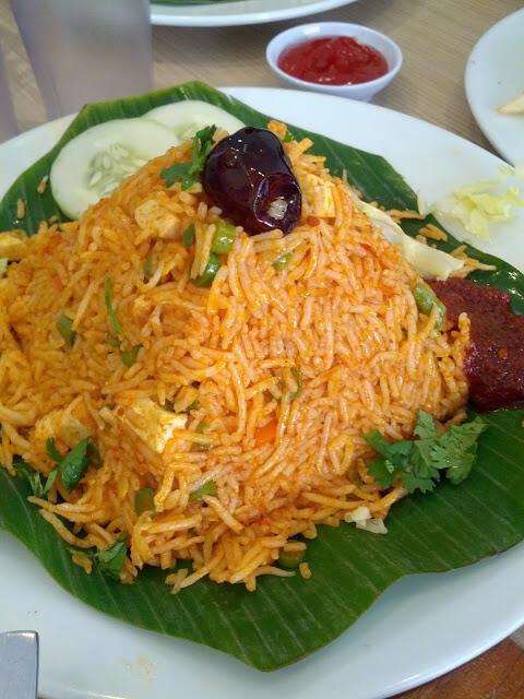Sambal Fried Rice   Gokul Vegetarian Restaurant Singapore