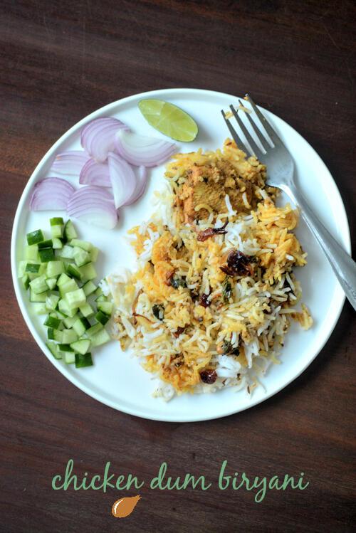 Hyderabadi chicken dum biryani, chicken dum biryani recipe