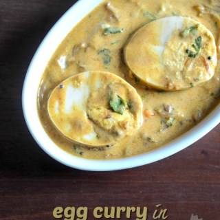 egg curry with coconut milk, coconut milk egg curry recipe